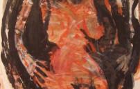 Adolf Frohner, Akt rot-orange-schwarz