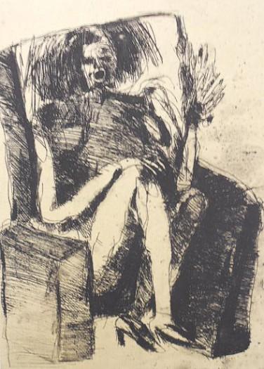 Adolf Frohner, Sitzende im Fauteuil