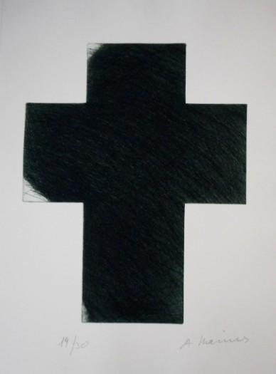 Arnulf Rainer, Kreuz tiefgrün