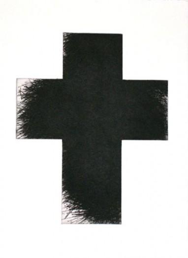 Arnulf Rainer, Kreuz groß braun