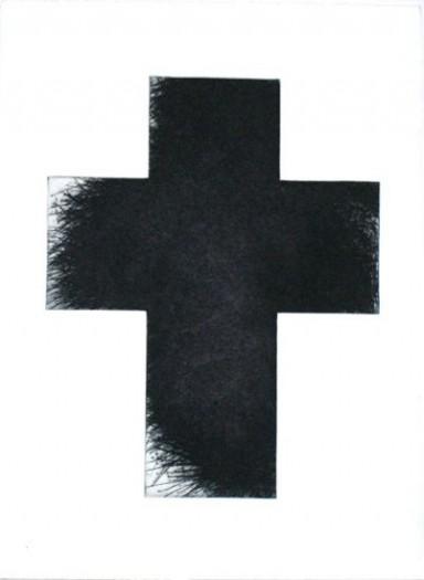 Arnulf Rainer, Kreuz groß schwarz