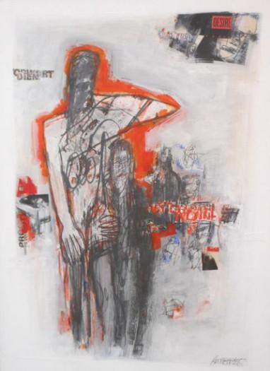 Robert Weber, Aktmodell mit Künstler