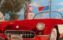 Blaha Wolfgang, Red Cabrio on Route 66