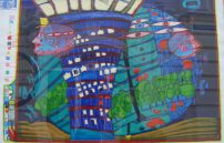 Friedensreich Hundertwasser, Flucht ins All 650A