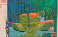 Friedensreich Hundertwasser, Kolumbus Regentag in Indien 687A