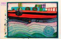 Friedensreich Hundertwasser, Regentag auf Liebeswellen 697A