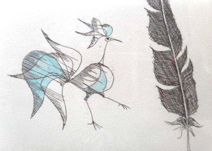 Paul Flora, Vogel und Feder