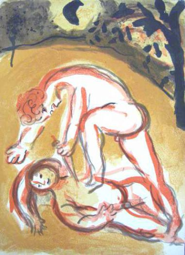Chagall Marc, Kain und Abel