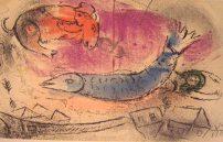 Chagall Marc, Ein blauer Fisch