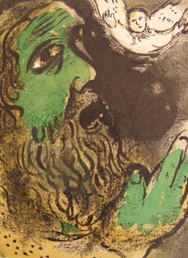 Chagall Marc, Der betende Hiob
