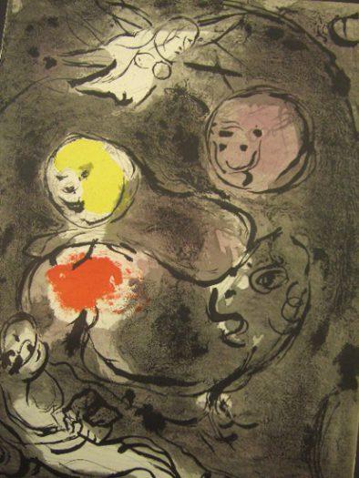 Chagall Marc, Prophet Daniel mit den Löwen