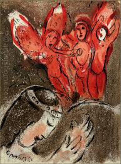 Chagall Marc, Sahra und die Engel