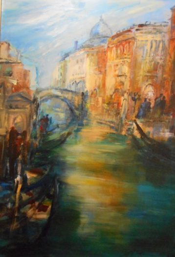 Hettl Eleonore, Venedig Gondelfahrt