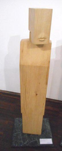 Egon Straszer, Bewegliche Figur Holz
