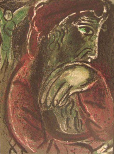 Chagall Marc, Hiob in der Verzweiflung
