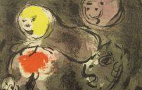 Chagall Marc, Propfet Daniel mit den Löwen