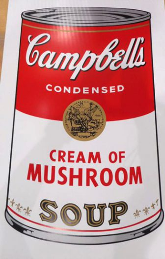 Warhol Andy, Camppbell´s Soup, Camppbell´s Soup, Cream of Mushroom
