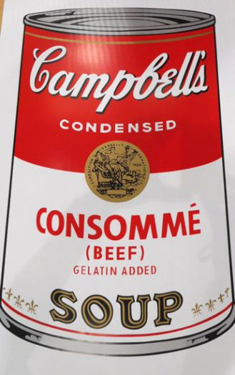 Warhol Andy, Camppbell´s Soup, Consummé