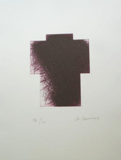 Arnulf Rainer, kleines Kreuz violett